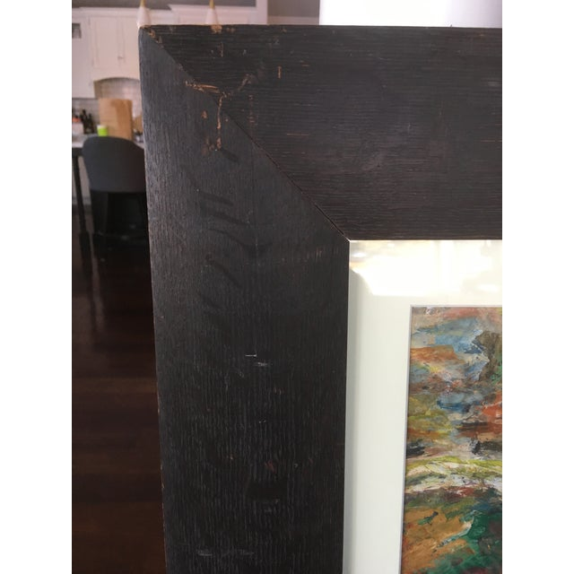Contemporary 1970s Vintage Abstract Mathias Barz Original Oil Painting For Sale - Image 3 of 13