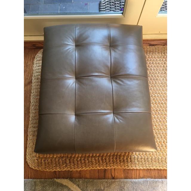 Mitchell Gold + Bob Williams Kennedy Leather Ottoman | Chairish