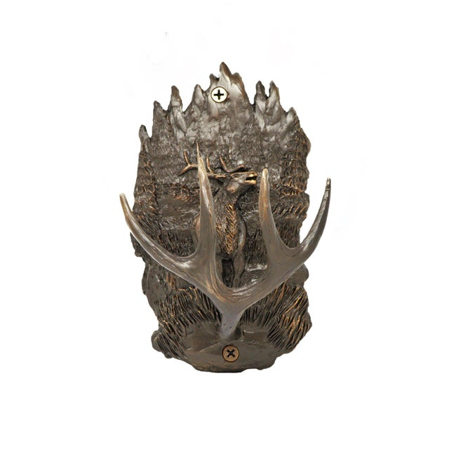 Black Forest Scenic Elk Hook with Traditional Patina For Sale - Image 3 of 3