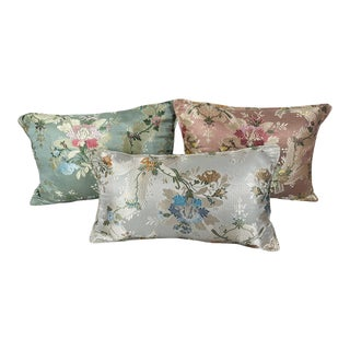 French Louis XVI Floral Pillows - Set of 3 For Sale