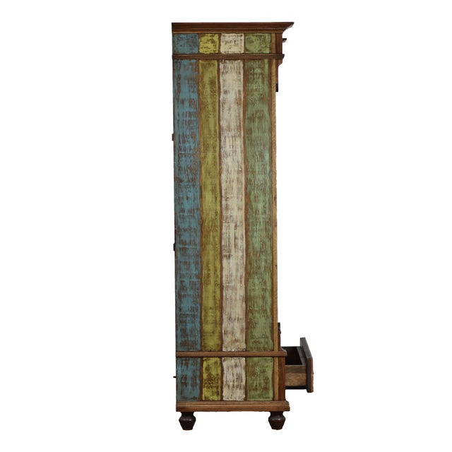 Adirondack Reclaimed Wood Bookcase For Sale - Image 3 of 6