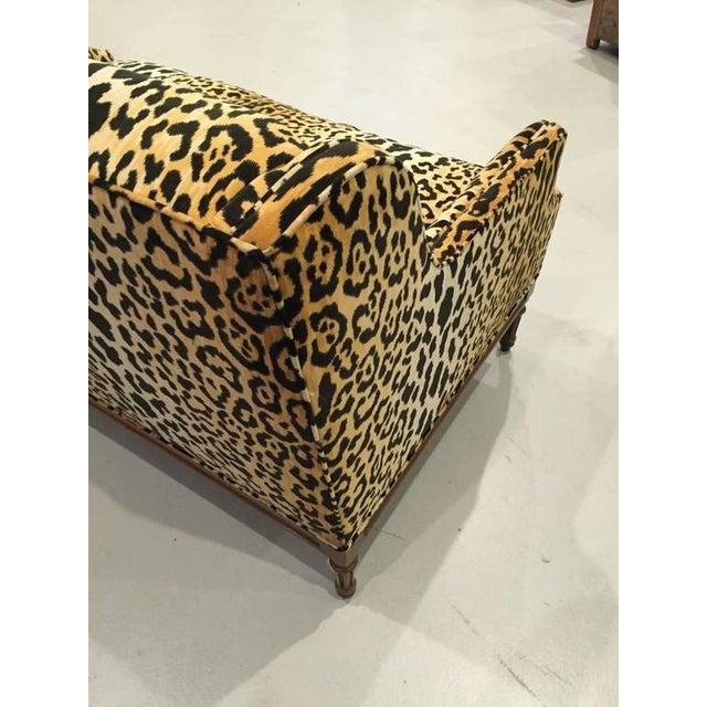 Mid-Century Leopard Print Sofa - Image 10 of 10