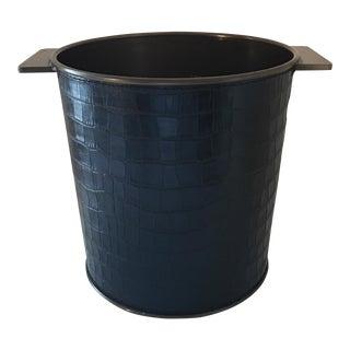 Bronze & Black Leather Champagne Bucket