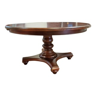 Thomasville Furniture Fredericksburg Whiskey Mahogany Round Dining Table For Sale