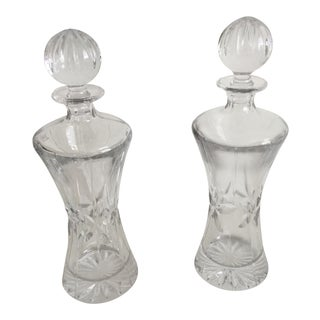 1970s Vintage Towle Lead Crystal Decanters - a Pair For Sale