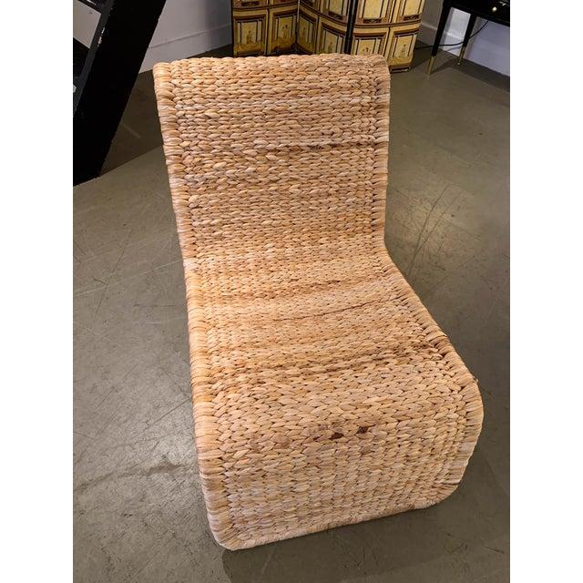 Tito Agnoli 1980s Tito Agnoli P3 Rattan Lounge Chairs- a Pair For Sale - Image 4 of 12