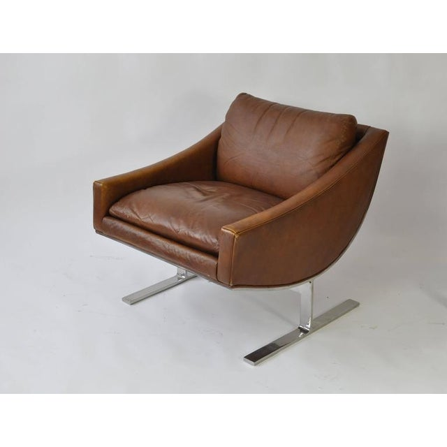 Mid-Century Modern Pair of Kipp Stewart Leather Lounge Chairs For Sale - Image 3 of 6
