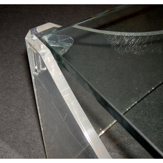 Lucite and Glass Coffee Table - Image 2 of 5