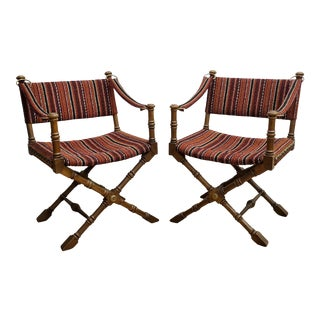 1970s Vintage Drexel Director/Campaign Chairs - a Pair For Sale