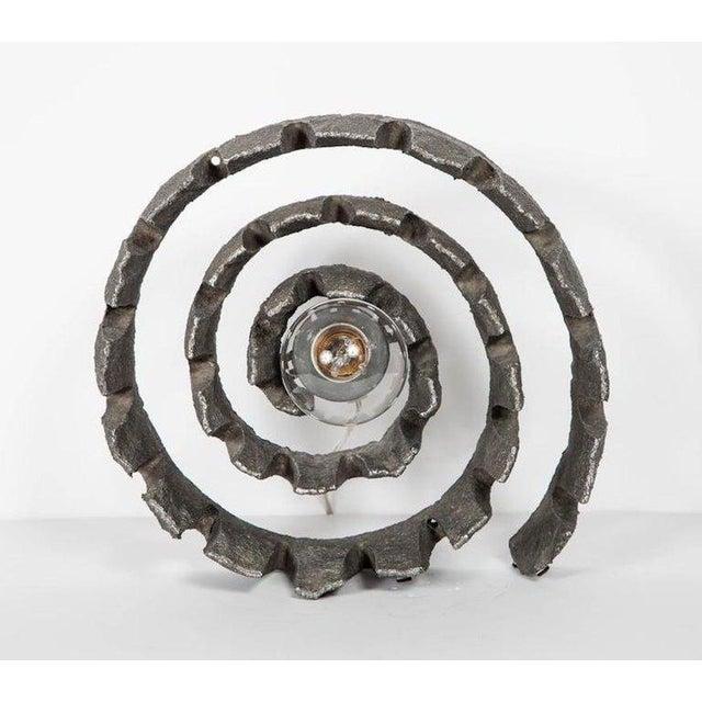 1960's Mid-Century Modern Brutalist Sculptural Lamp, Germany For Sale - Image 4 of 11