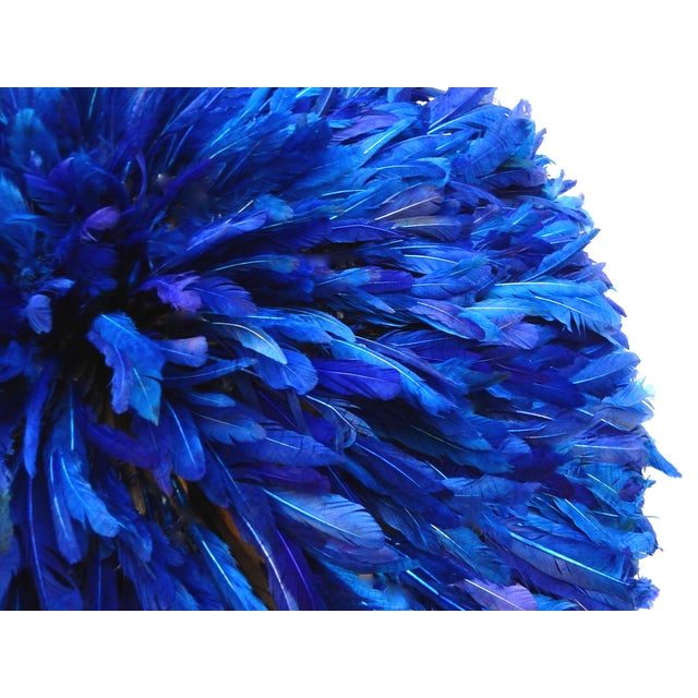 Juju Hat Cobalt Blue African Wall Hanging - Image 2 of 6