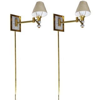 Articulated Swing Wall Sconces - A Pair For Sale