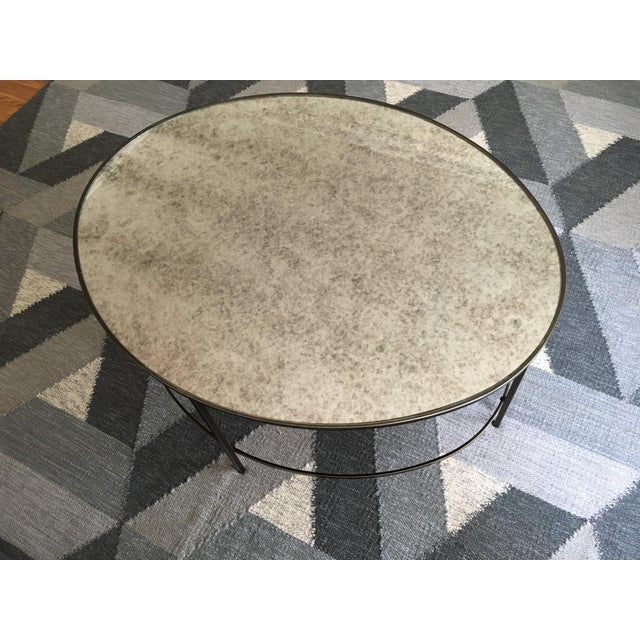 West Elm Foxed Mirror Oval Coffee Table - Image 4 of 4