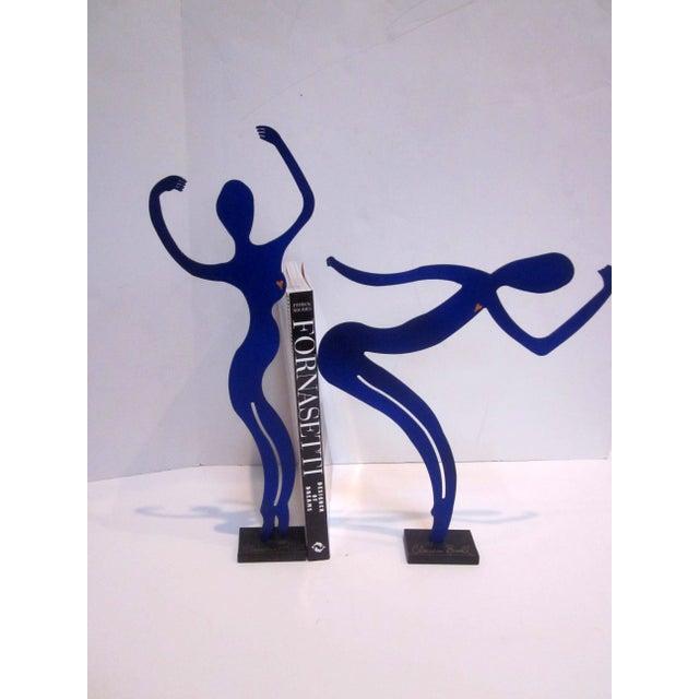 Modernist Abstract Dancer Steel Sculptures - Set 3 - Image 6 of 6