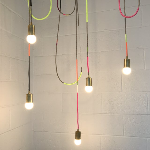 Lasso Chandelier x Chad Wentzel MADE YEAR: 2019 MADE IN: Detroit, MI From the Lasso Series, featuring contemporary cord...