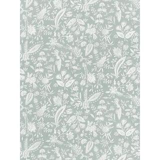 Sample, Scalamandre Tulia Linen Print, Mineral Fabric For Sale