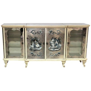Hollywood Regency Style Eglomised Bar or Sideboard For Sale