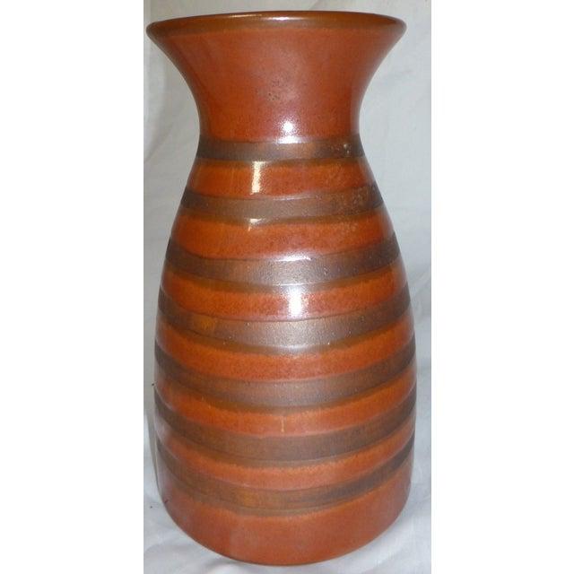 Asian Mid Century Otagiri Japanese Pottery Vase For Sale - Image 3 of 6