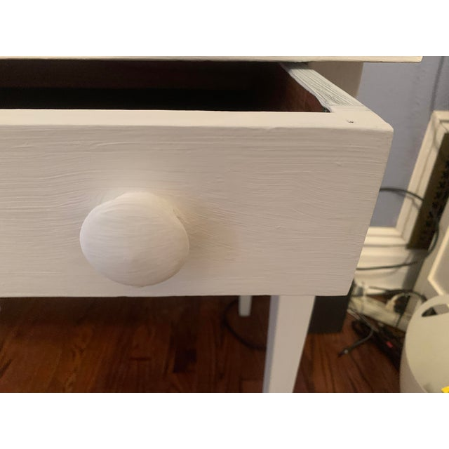 1960s Boho Chic Desk Painted in White Chalk Paint For Sale In Denver - Image 6 of 13