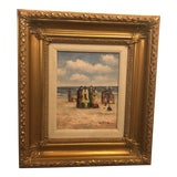 Image of 1980s Oil on Canvas Impressionistic Painting For Sale