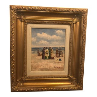 1980s Oil on Canvas Impressionistic Painting For Sale