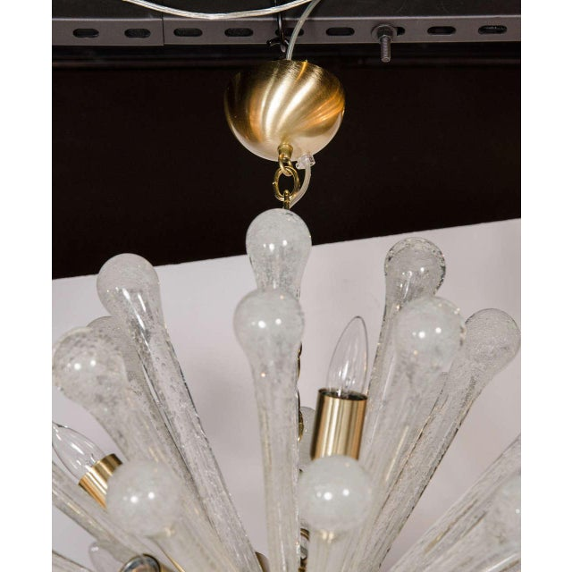 Clear Murano Glass Sputnik Chandelier with Brass Fittings - Image 5 of 9