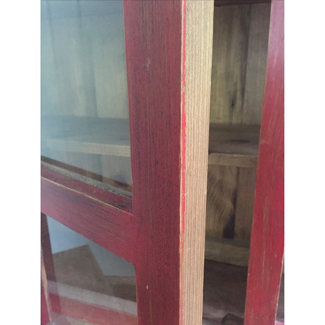 Red Farm Style 2 Piece Pine China Cabinet For Sale In Baltimore - Image 6 of 11
