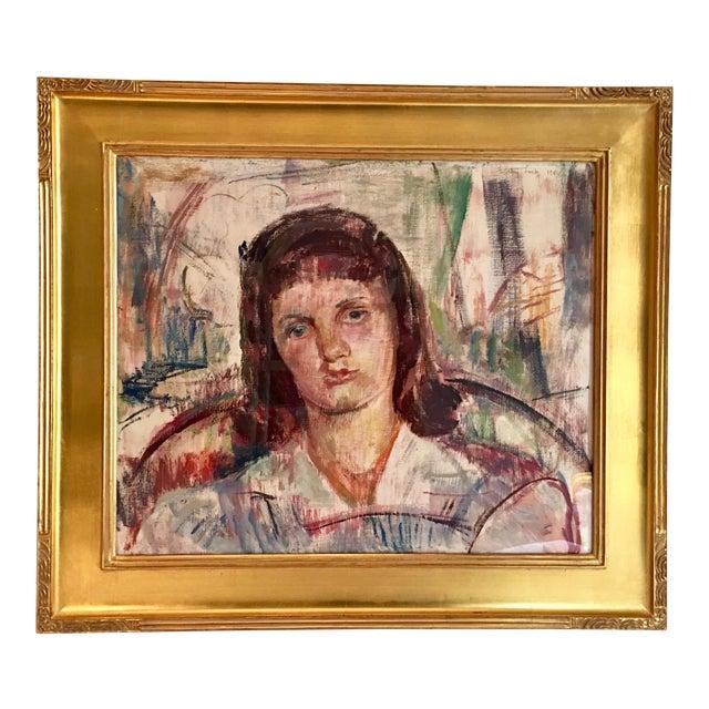 Vintage Modernist Portrait by Dorothy Loeb For Sale