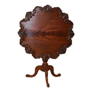 18th Century Mahogany Irish Tea Table For Sale