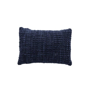 Rectangle Navy Pillow With Silk For Sale