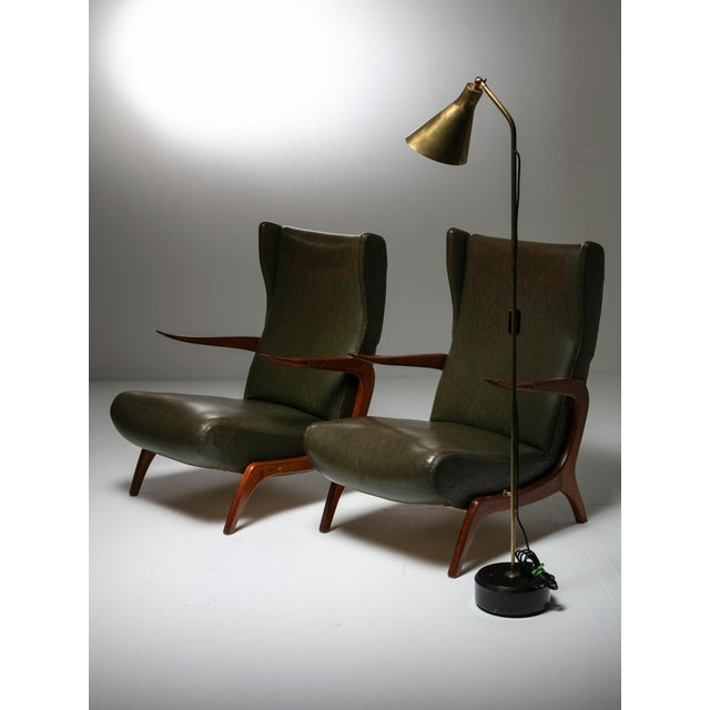 Set of Two Bergères With Footrest For Sale - Image 10 of 11