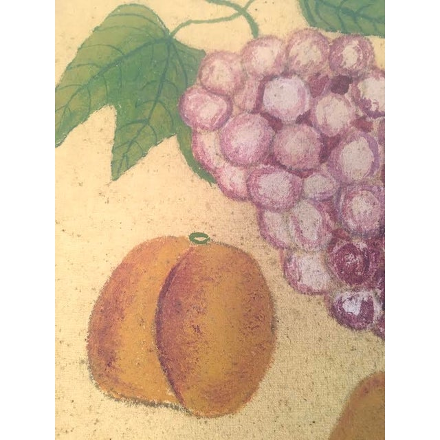 Late 19th Century American Folk Art Fruit Still Life Painting, circa 1895 For Sale - Image 5 of 11