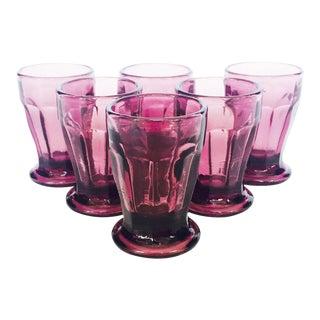 Vintage Aubergine Shot Glasses - Set of 6 For Sale