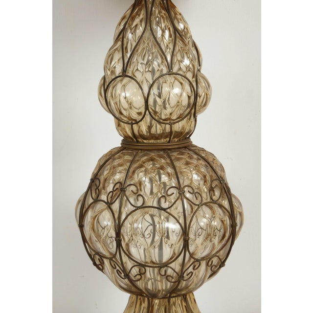 Murano Glass Italian Table Lamp by Marbro For Sale - Image 4 of 6