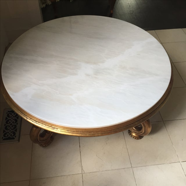 Italian Gold & Marble Coffee Table - Image 6 of 11