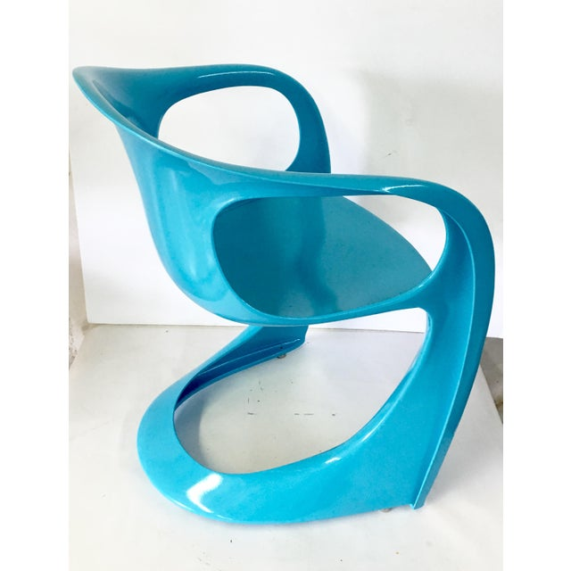 70's German Molded Organic Form Lacquered Armchair - Image 5 of 8