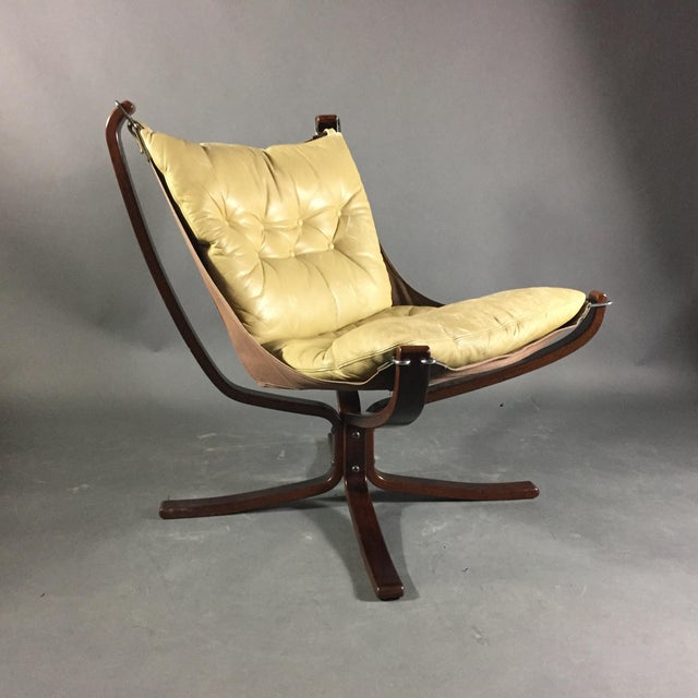 """Sigurd Ressell Yellow """"Falcon"""" Low Back Lounge Chair, 1970s For Sale - Image 12 of 12"""