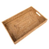 Image of Artifacts Rattan Rectangular Tray For Sale