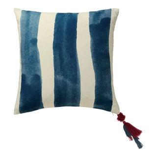 OKA Large Huaca Reversible Pillow in Indigo