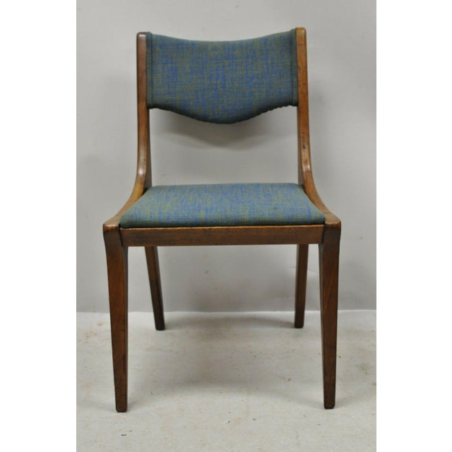 Drexel Dateline John Van Koert Walnut Mid Century Modern Dining Side Chair (B) Item features solid wood construction,...