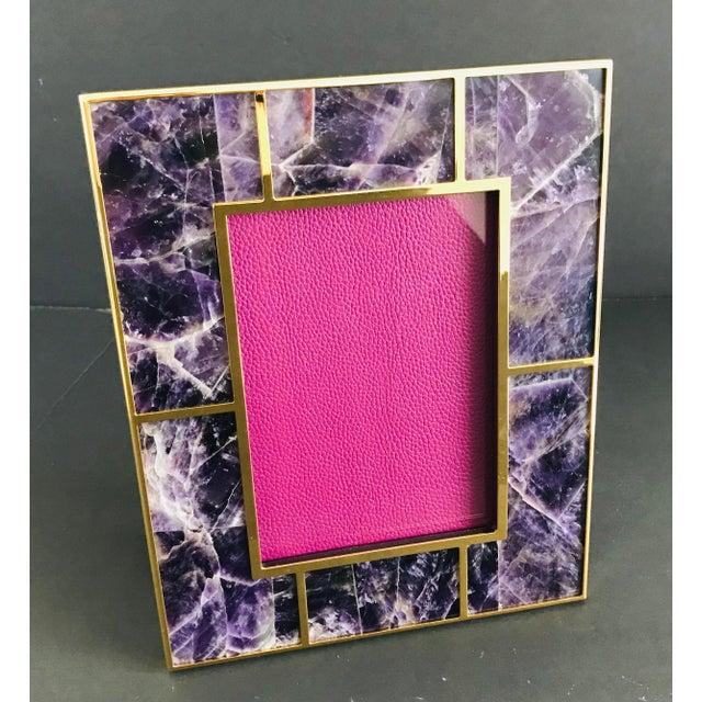Art Deco Amethyst Photo Frame by Fabio Ltd For Sale - Image 3 of 7
