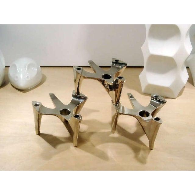 "1970s Brutalist Hammonia-Motard ""Vogelflug"" Candle Holders For Sale - Image 4 of 10"