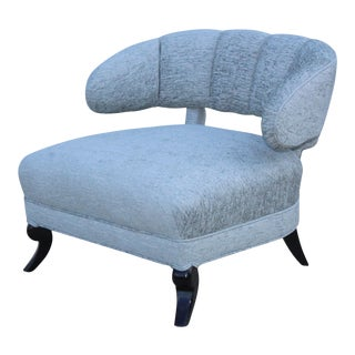 1940s Grosfeld House Attributed Slipper Lounge Chair For Sale