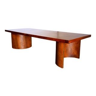 Kroehler Mid-Century Modern Walnut and Paldeo Wood Platform Coffee Table For Sale
