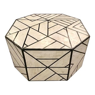 Modern Tessellated Bone Inlay Geometric Coffee Table For Sale