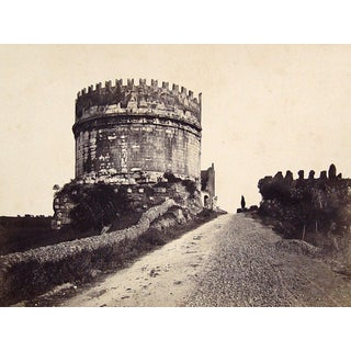 Roman Ruin, Tomb Cecilia Metella, 1890s Photograph For Sale