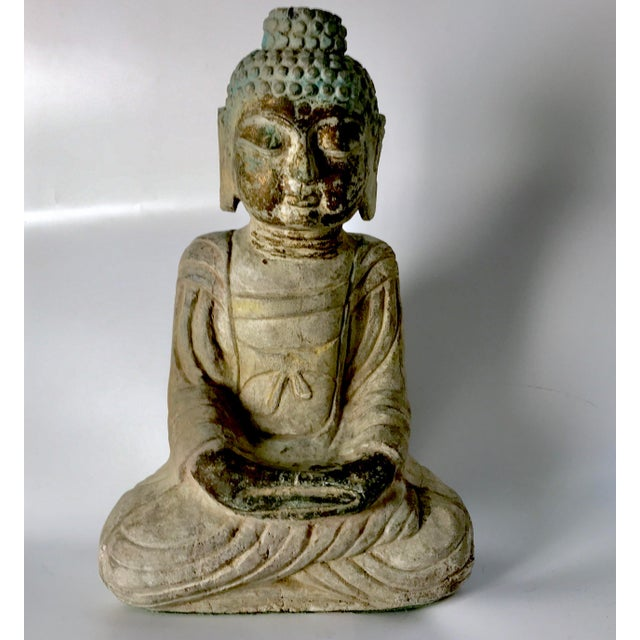 What an absolute treasure this is. A carved Tibetan buddha from at least the early 18th century if not much earlier. This...