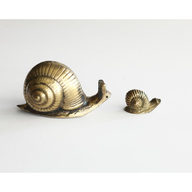 Solid Brass Snails - Pair - Image 2 of 5