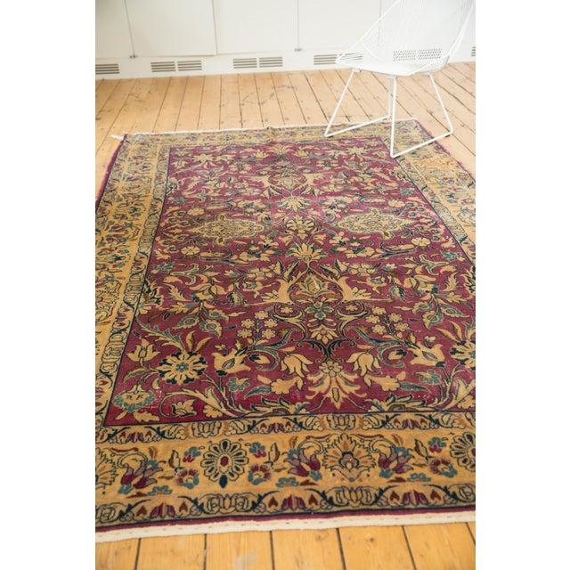 """Cotton Vintage Lilihan Carpet - 6'2"""" X 9'6"""" For Sale - Image 7 of 12"""