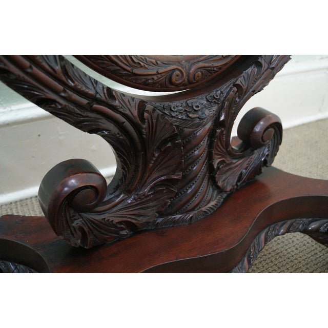 Antique Mahogany Swan & Eagle Carved Cheval Mirror - Image 7 of 10